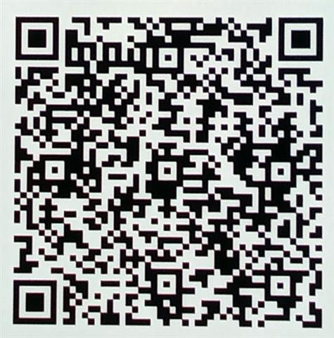 Cropped QR code for the first account